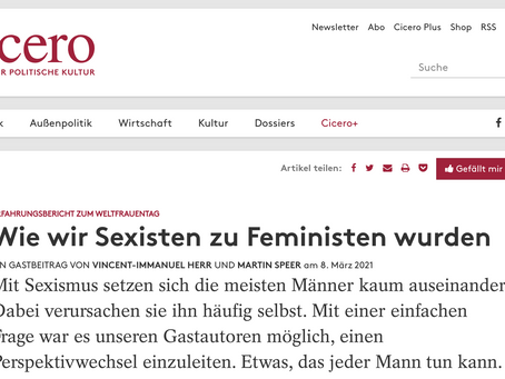 Cicero Op-Ed on Men and Feminism