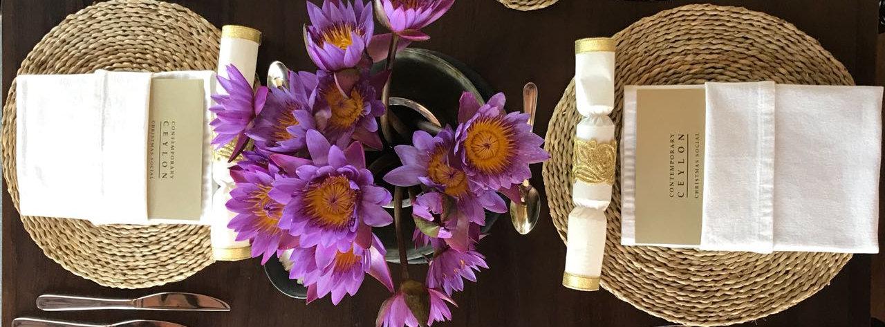 Olu flower table setting