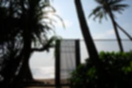 Beach side scene from Sri Lankan boutique villa