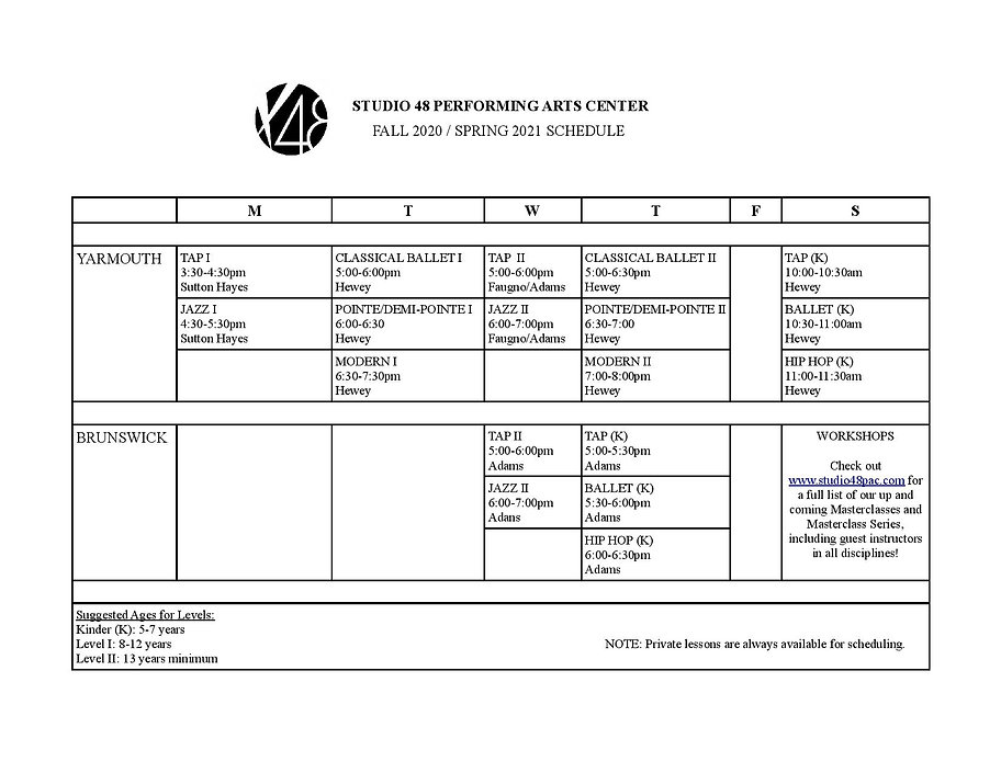 Studio 48 2020 Fall Schedule CDC 3-page-