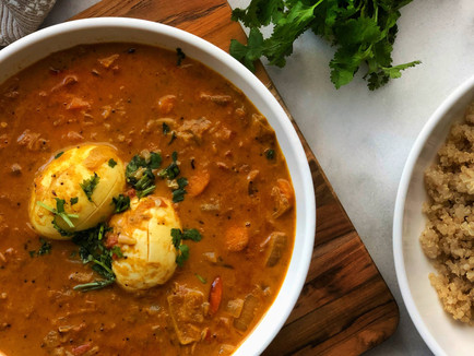 Coconut Egg Curry with Ras El Hanout