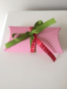 Gift certificate in pink pillow pouch