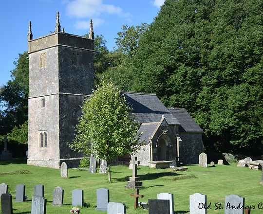 Photo of the old church found on the outskirts of Holcombe village