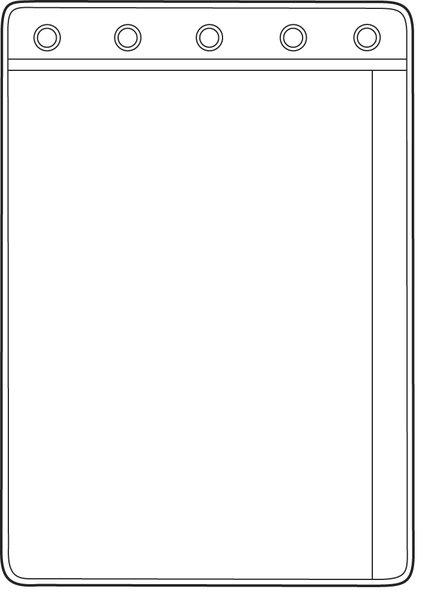 "1 Pocket Side Open For Top Opening Binders, 8 1/4"" x 11"" Pocket (10 Pack)"