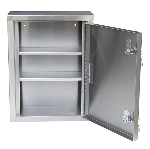 """Single Door American Made Stainless Narcotic Cabinet (15""""H X11""""W X4""""D)"""