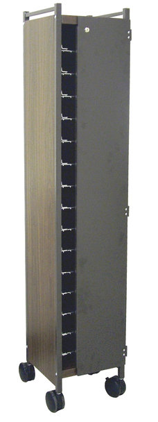 Horizontal Privacy Style Chart Rack With Locking Panels
