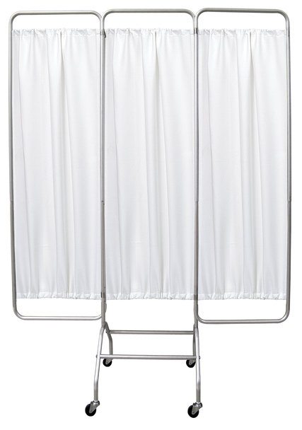 Mobile 3 Panel Privacy Screen with Casters