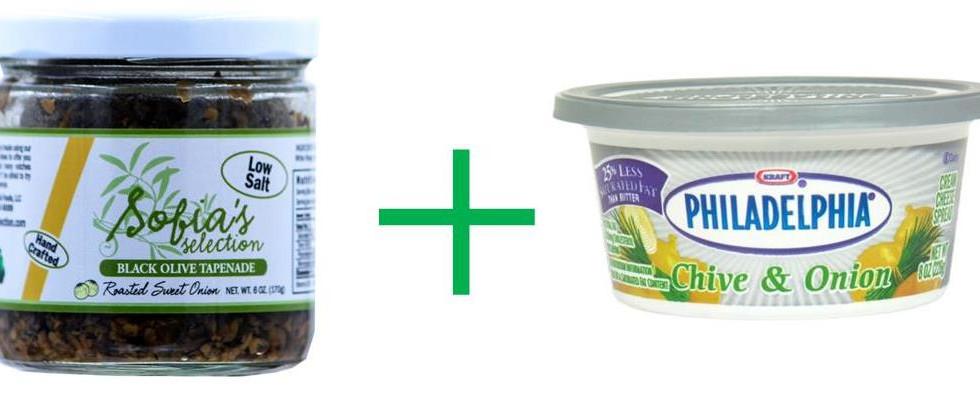 Olive Tapenade & Cream cheese Dip