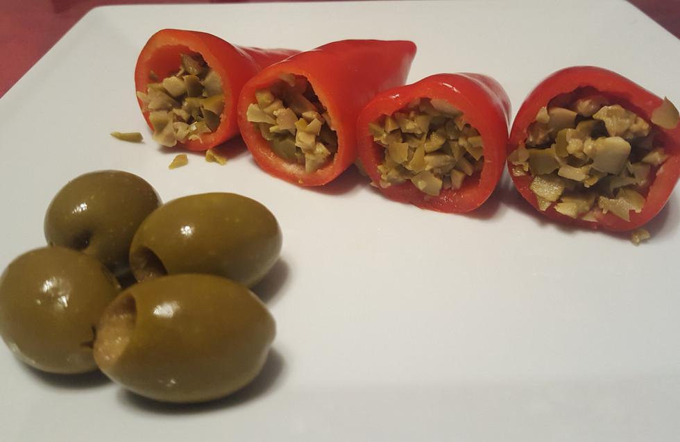 Olive Tapenade filled red pepper