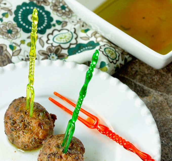 Olive Tapenade meat balls