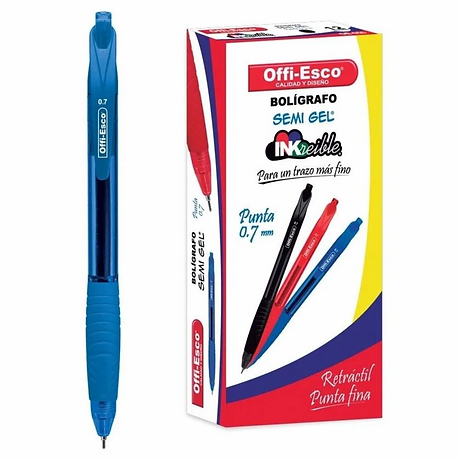 36-Boligrafos-Azul-Offi-Esco-Semi-Gel-Re