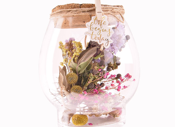 De glazen bloemen bol