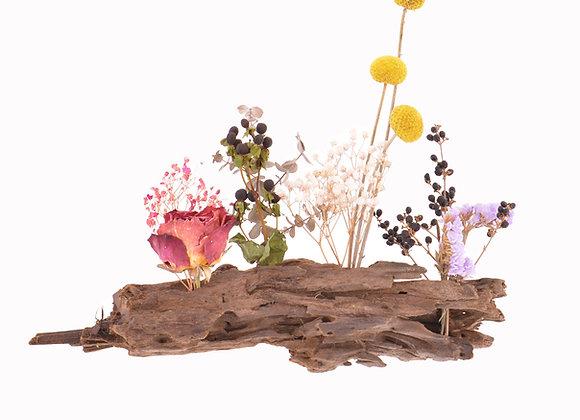 Drijvende droogbloemen show