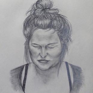 kresba portrétu podle živého modelu