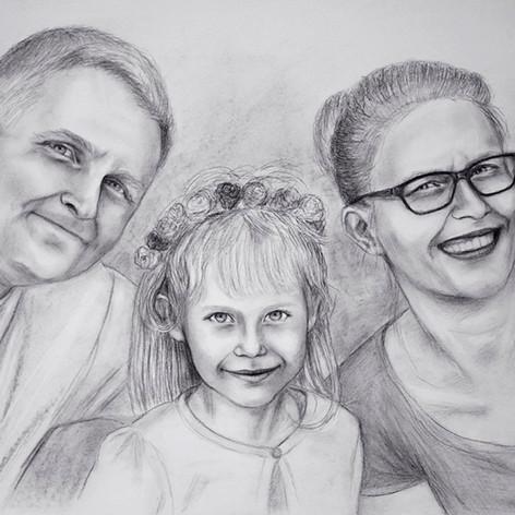 rodinný portrét podle fotky