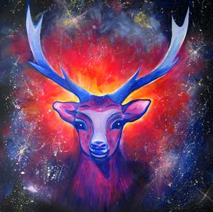 malovaný jelen