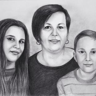 rodinný portrét z fotky