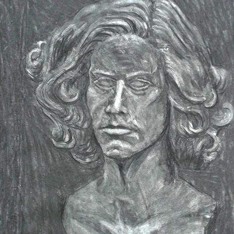 kresba hlavy podle modelu