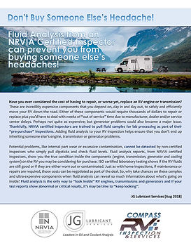 The Value of RV Fluid Analysis (Rev A) -