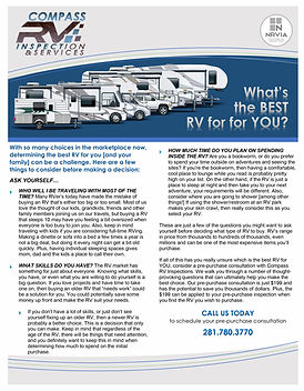 Article - The Best RV for You - Negotiat