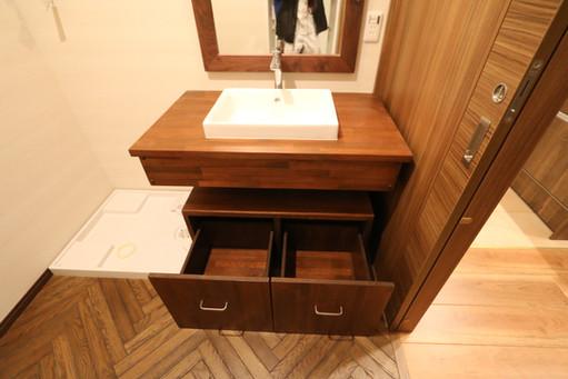 造作洗面化粧台