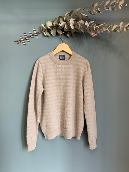 maglioncino rosa antico 100% lana made in italy do knit
