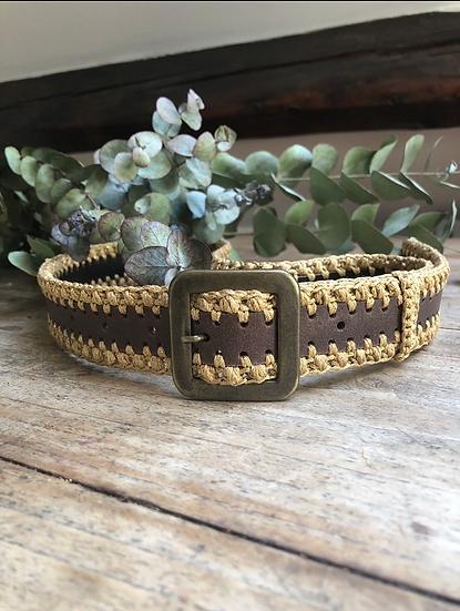 Cintura pelle scura Oro