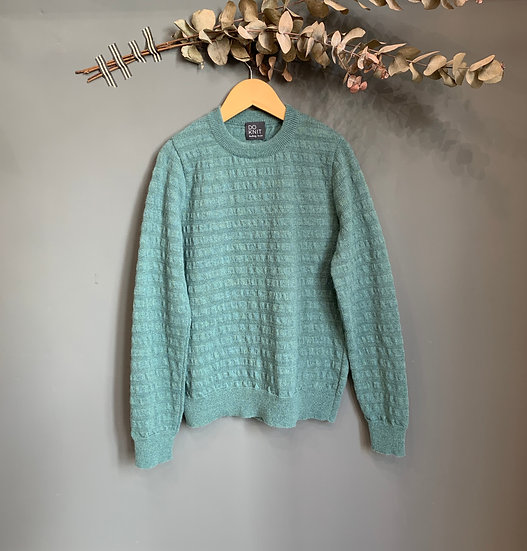 maglioncino verde acqua 100% lana made in italy do knit