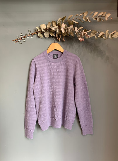 maglioncino viola 100% lana made in italy do knit