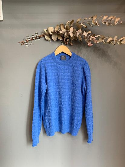 maglioncino traforato azzurro 100% lana made in italy
