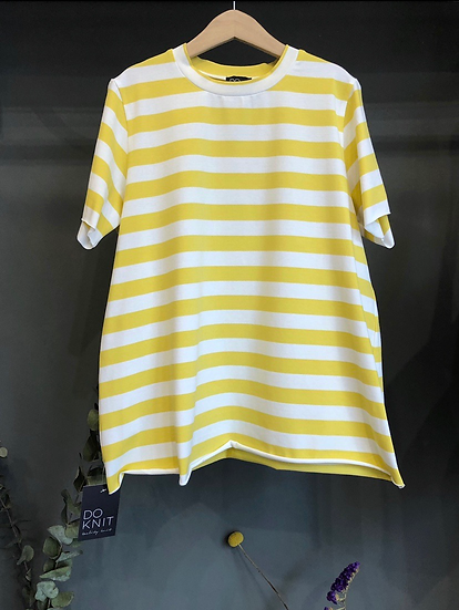 T-SHIRT righe giallo/bianco