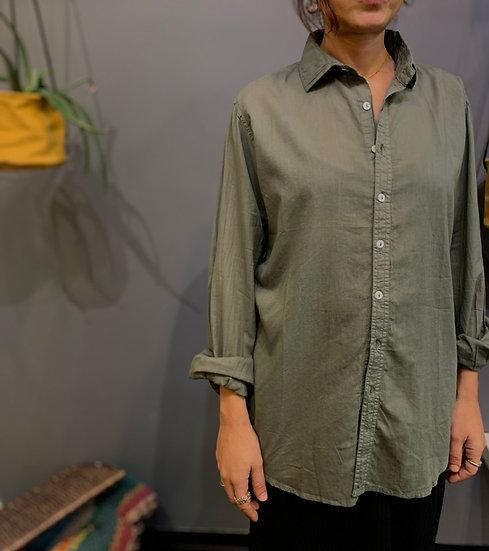 Camicia taglio maschile - Dusty Olive