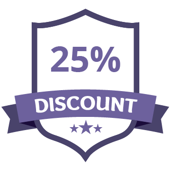 25% Discount Purple