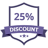 25% Discount Purple