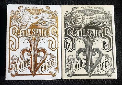 David Blaine Gold & Silver Split Spades
