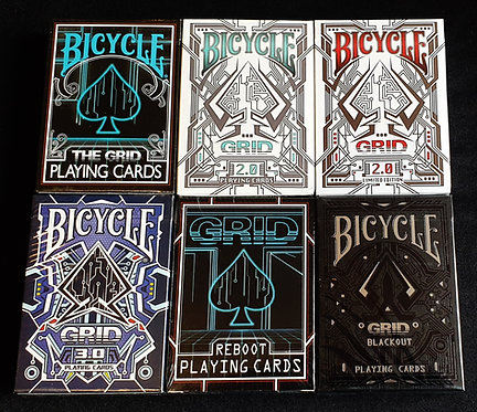Bicycle The Grid - Complete 6 Deck Set