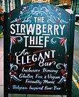 The Strawberry Thief - An Elegant Bar A-Board