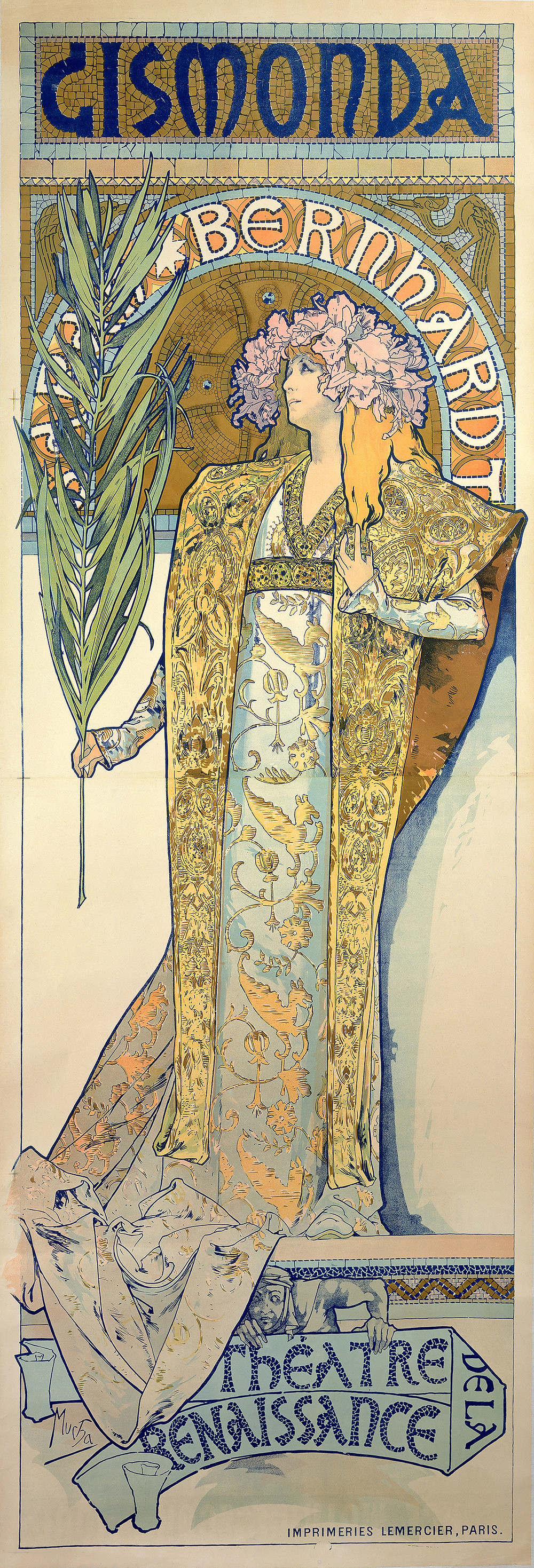 Gismonda 1894 lithography in couleur 216 x 74.2 cm Fondation Mucha, Prague © Mucha Trust 2018