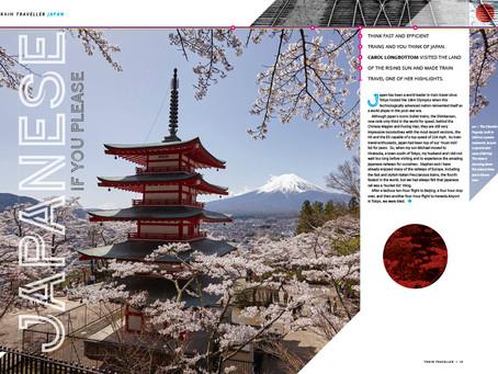 Magazine spread for consumer magazine Train Traveller on Japan
