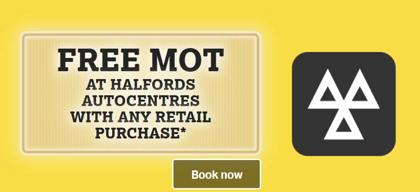 Free MOT at Halfords with any retail purchase