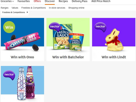 Sainsburys, competitions for online customers