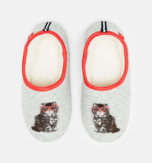 Joules cat slippers