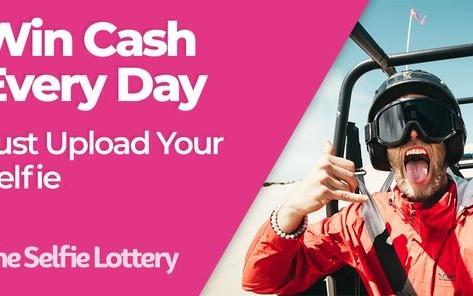 The Selfie Lottery, win cash each day