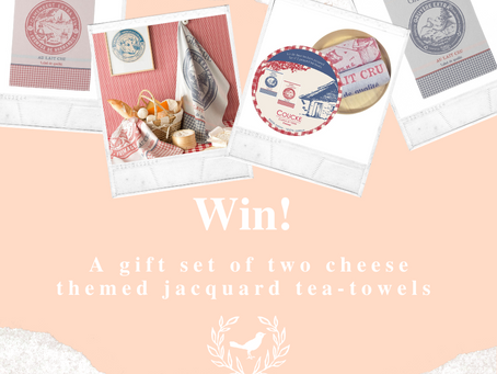 Win a gift set of cheese-themed tea towels