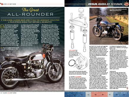 Magazine spread for consumer title Classic 60s Brit Bikes
