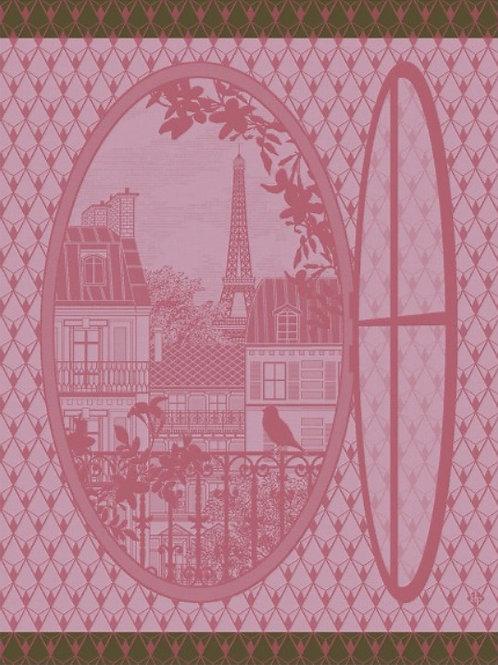 Window on Paris (Fenêtre sur Paris) 100% cotton French tea-towel