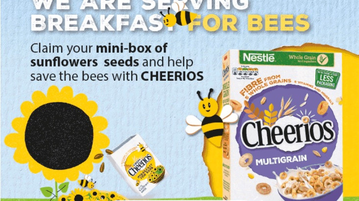 Claim a mini-box of sunflower seeds to help save the bees