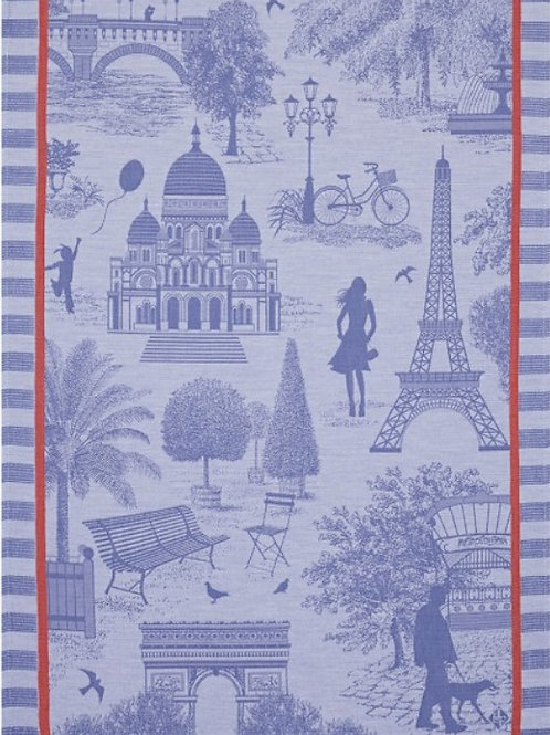 Paris city of light (Toile de Paris) 100% cotton French tea towel