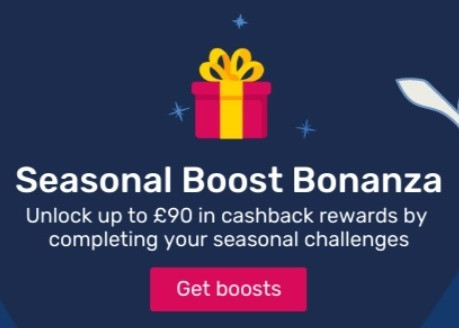 Seasonal Boost Bonanza from Quidco, unlock up to £90 cash
