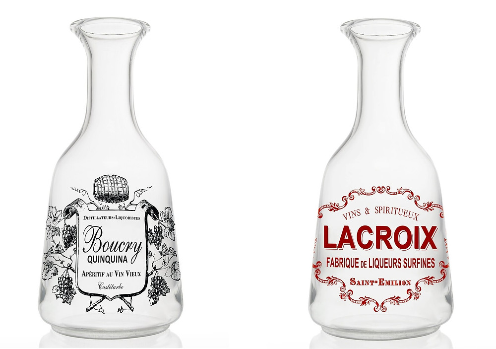 Boucry and Lacroix French water carafes